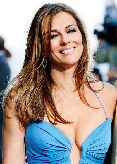 British Actress and Model Elizabeth Hurley Came Third