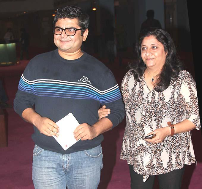 Deven Bhojani with wife Jagruti at SAB Ke Anokhe Awards 2012