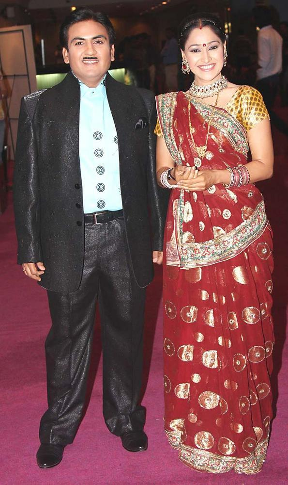 Dilip Joshi and Disha Vakani at SAB Ke Anokhe Awards 2012