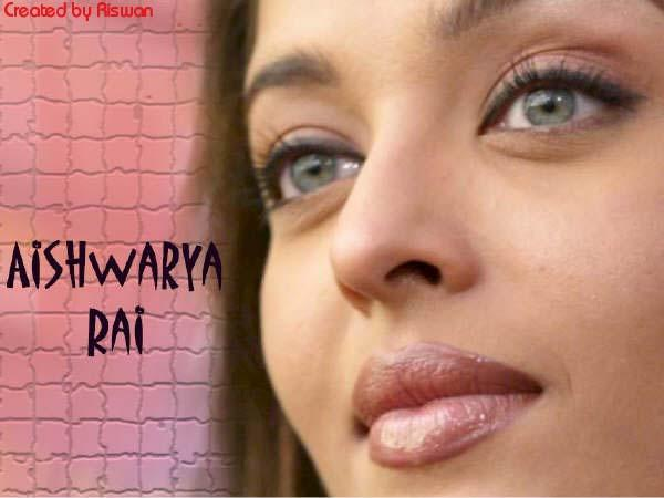 Aishwarya Rai Sexy Eyes and Pink Lips Sweet Wallpaper