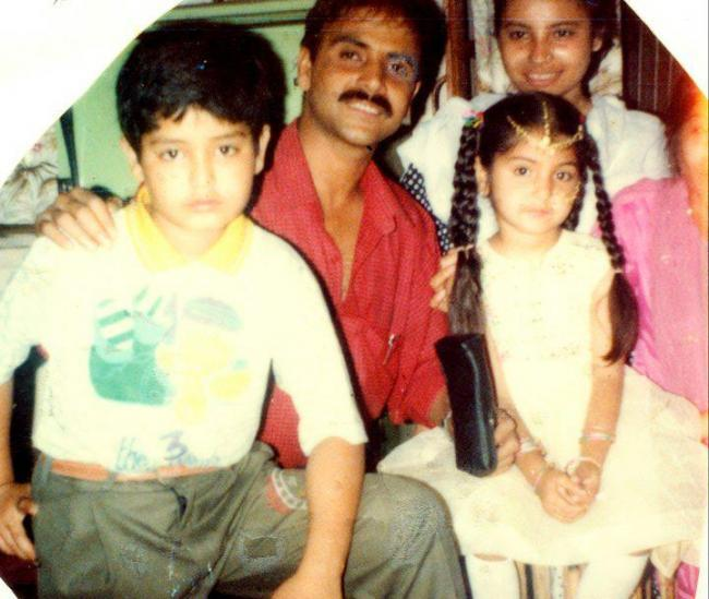 Bollywood Actress Anushka Sharma's Childhood Cute Photo