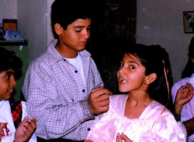Bollywood Hottie Anushka Sharma's Childhood Cute Photo