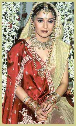 Dancing Queen Madhuri Dixit Looking Very Beautiful In Wedding Dress