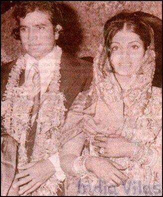 Marriage of Super Star Rajesh Khanna with Dimple Kapadia