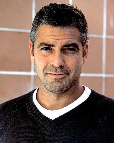 American Actor George Clooney Sweet Smile Pic