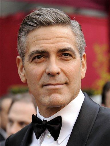 George Clooney Black Mix White Hair Stunning Pic