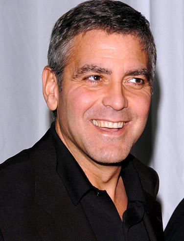 George Clooney Smiling Face Look Still
