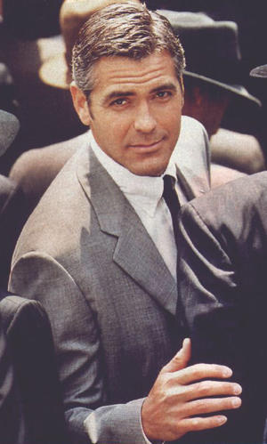 George Clooney Stunning Face Look Still