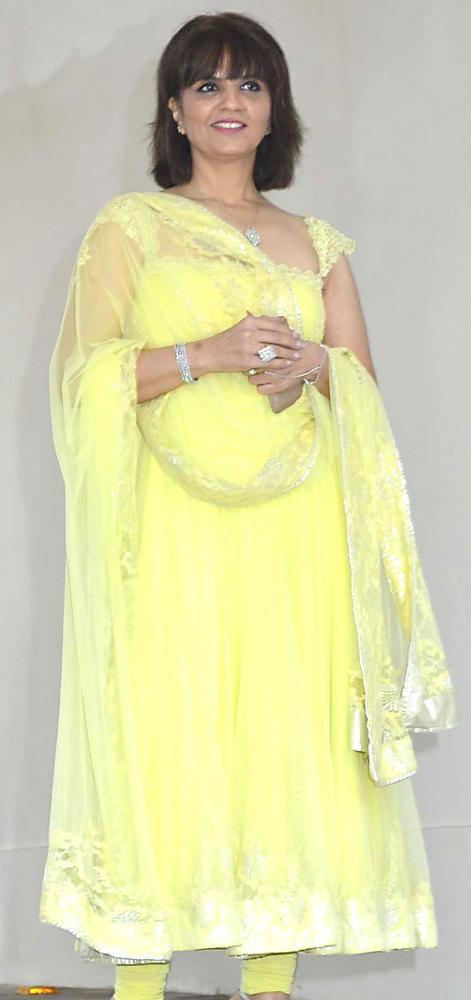 Neeta Lulla Snapped at Esha's Mehendi Ceremony Party