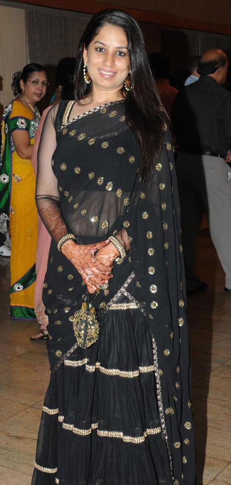 Manju Bhide In Black Saree at Suraj Godambe Sangeet Ceremony Bash