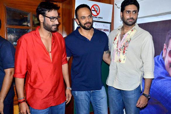 Ajay,Abhi and Rohit Promote Bol Bachchan On The Sets Of Taarak Mehta Ka Ooltah Chashmah
