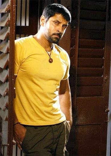 Vikram Angry Look Still In Yellow T Shirt