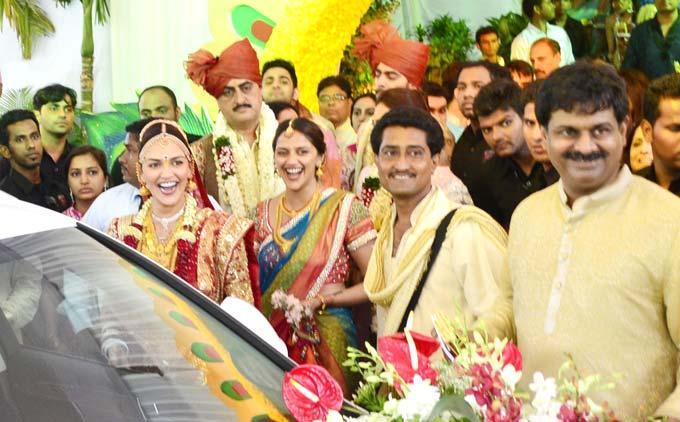 Ahana Deol at Sister Esha Wedding Ceremony