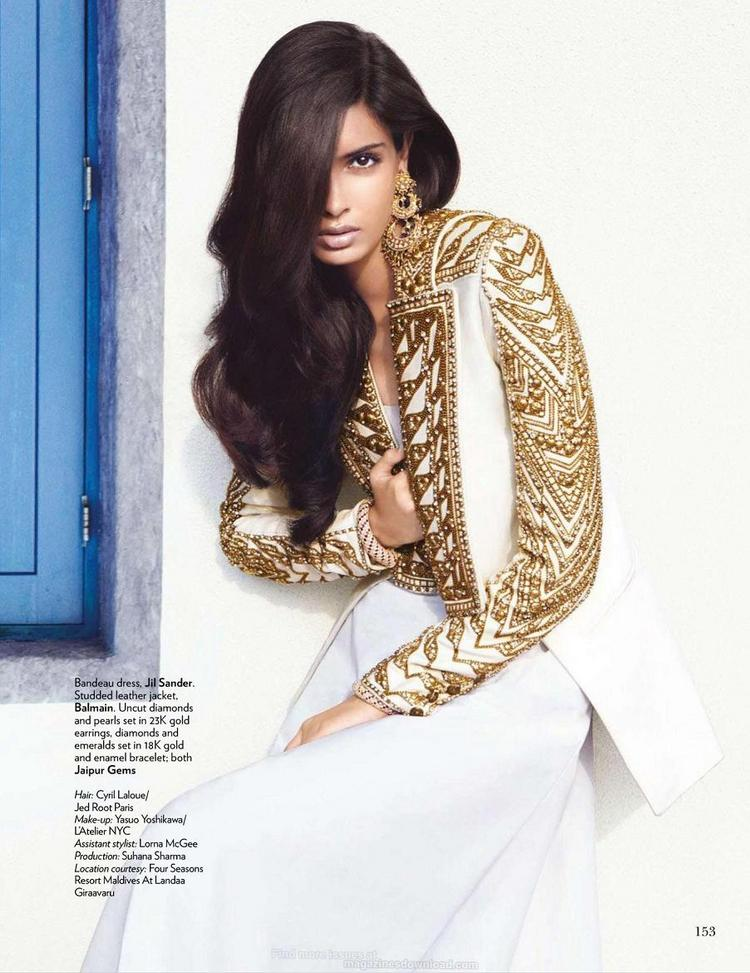 Diana Penty on the Cover Page of Vogue Magazine India