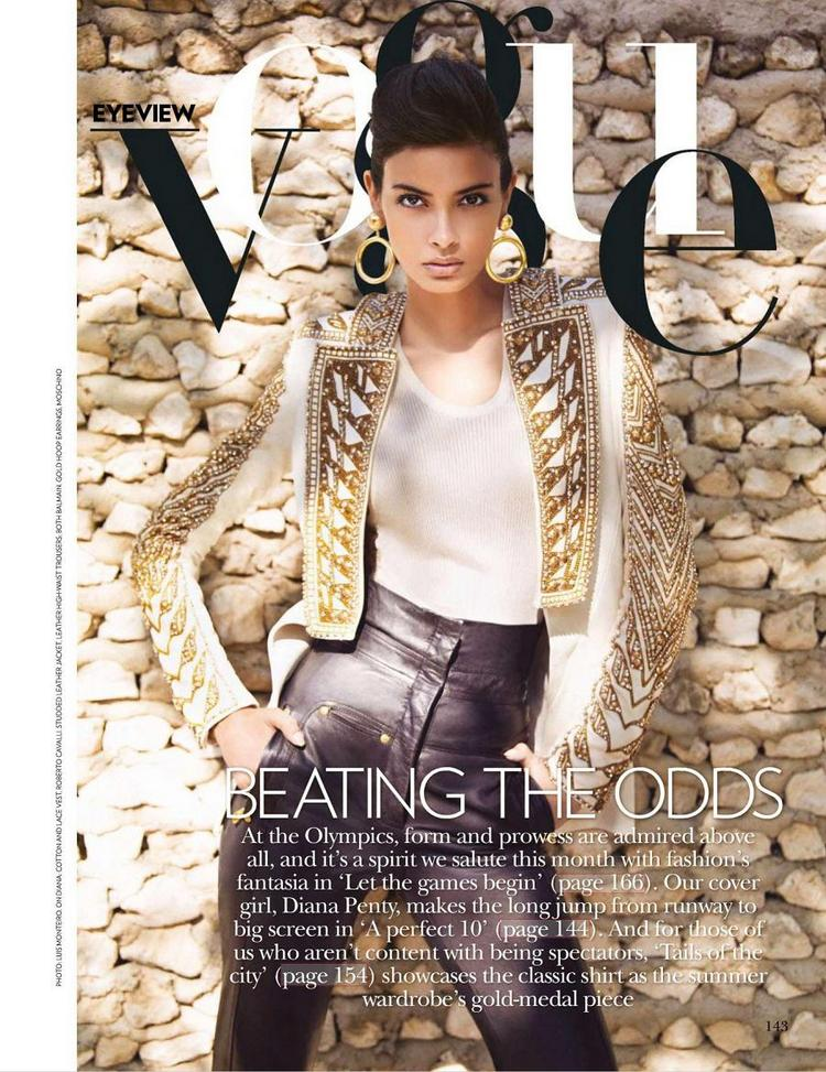 Diana Penty Sizzling Photo Shoot For Vogue Indian Magazine July 2012 issue