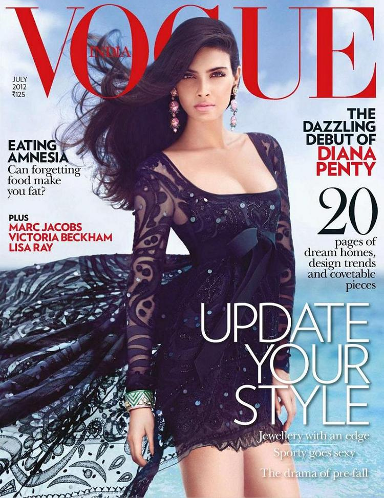 Hot Model Diana Penty On the Cover Page Of Vogue