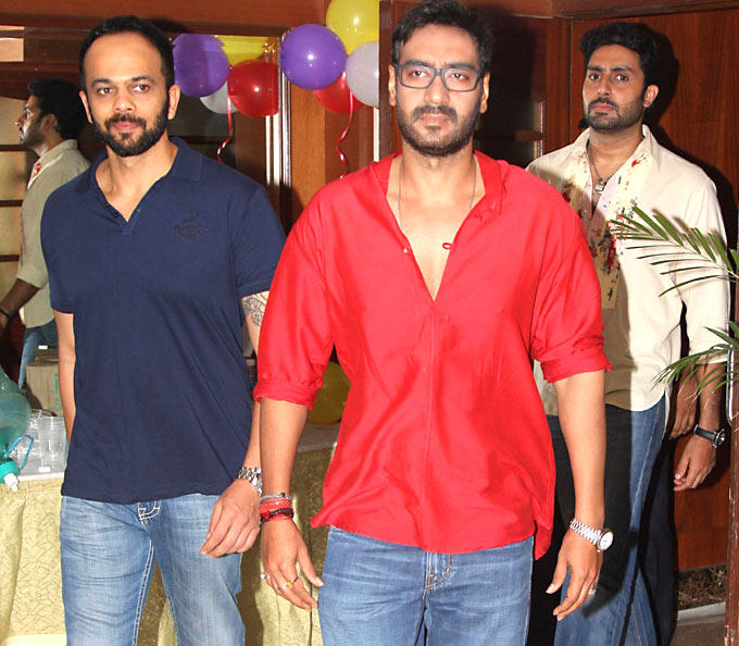 Ajay,Rohit and Abhi Spotted To Promote Their Film Bol Bachchan On The Sets Of Taarak Mehta Ka Ooltah Chashmah