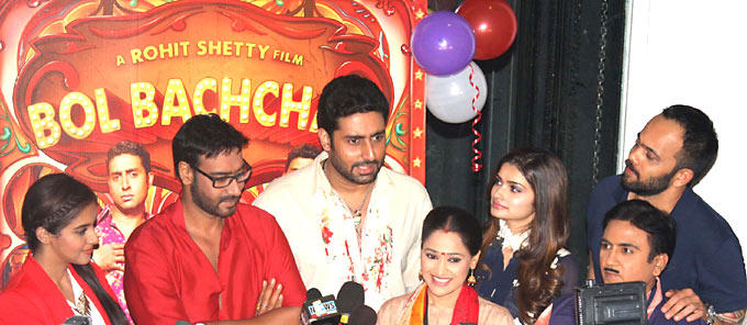 The Cast of Upcoming Comedy Film Bol Bachchan Promote Their Film on The Sets of Hit TV Seriel