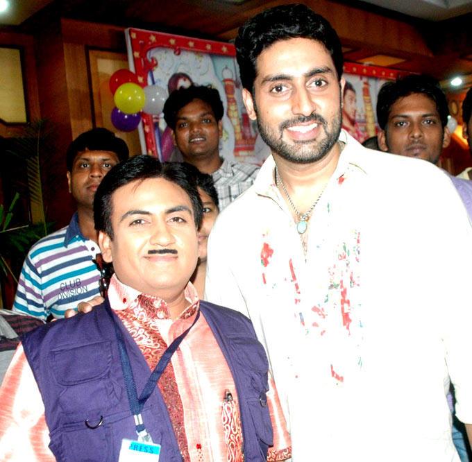 Dilip and Abhi Poses On The Sets Of  Taarak Mehta Ka Ooltah Chashmah