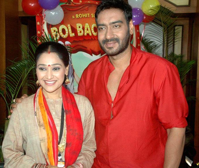 Disha and Ajay Devgan On The Sets Of  Taarak Mehta Ka Ooltah Chashmah