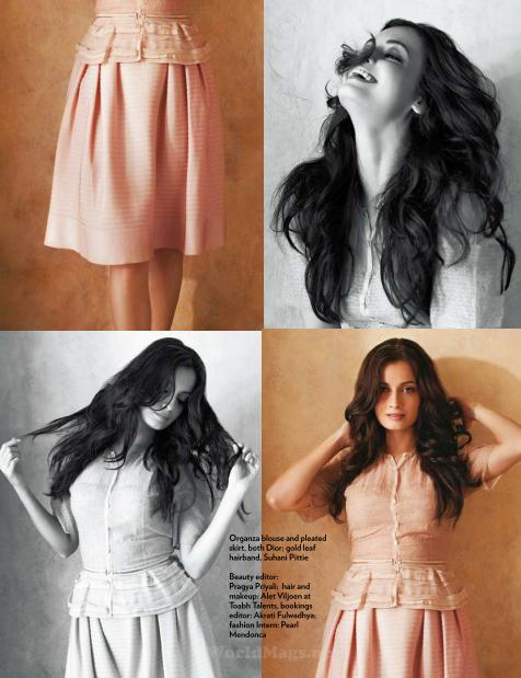 Dia Mirza on the pages of Marie Claire Magazine July 2012
