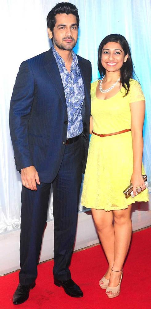 Arjan Bajwa with his Wife at Esha Deol Grand Wedding Reception