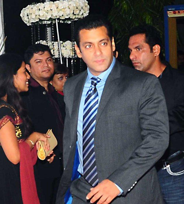 Salman Khan Spotted at Esha and Bharat Grand Wedding Reception