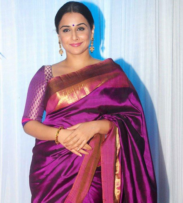 Vidya Looks Gorgeous In Traditional Saree at Esha's Reception