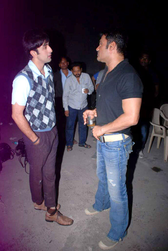 Bollywood Star Ranbir Kapoor Snapped With Sunil Shetty