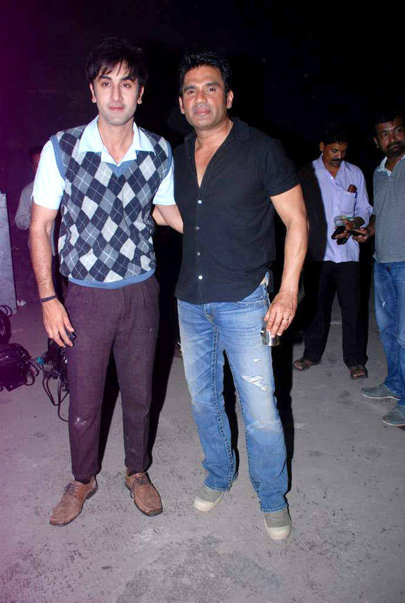 Ranbir Kapoor and Sunil Shetty Poses To Photo Shoot