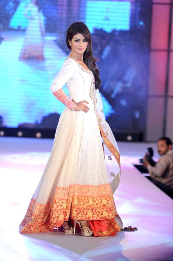 Priyanka Chopra Walks at CPAA For Manish Malhotra Fashion Show