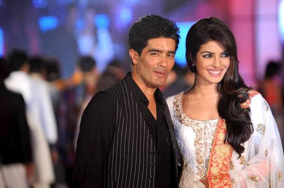 Priyanka With Manish Malhotra On Ramp at CPAA