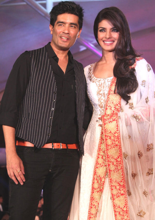 Manish Malhotra and Priyanka Chopra at CPAA Fashion Show 2012
