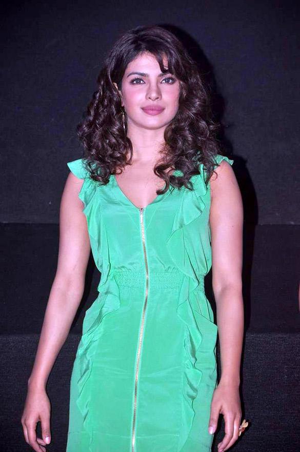 Gorgeous Diva Priyanka at Barfee Movie Theatrical Trailer Launch