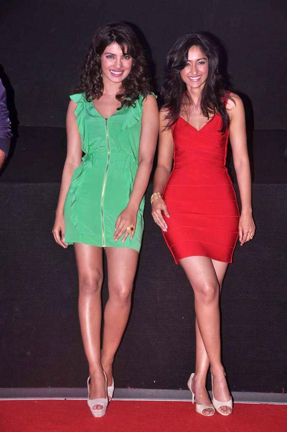 Priyanka and Ileana Short Dress Still at The First Look Launch Of Barfee
