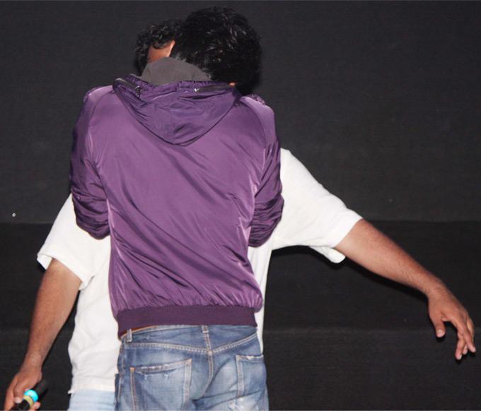 Ranbir Kissing Anurag at Barfee Movie Trailer Launch