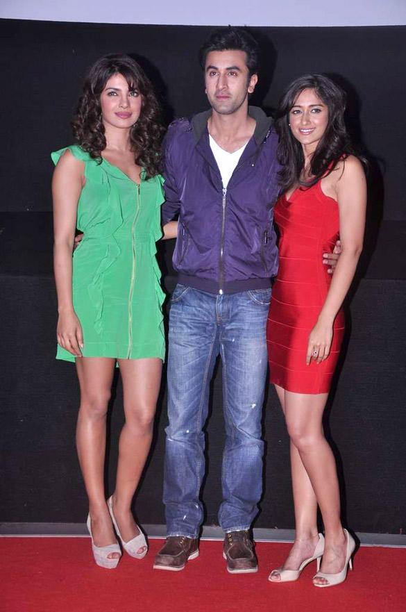 Ranbir,Ileana and Priyanka Poses During Barfee Movie Theatrical Trailer Launch