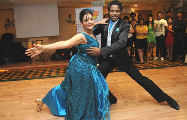 Dancing Still In Sandip Soparkar Party at Ballroom Dance Studio