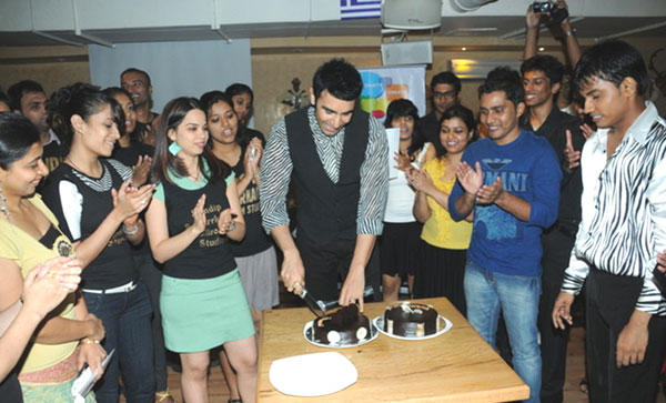 Sandip Cutting Cake Pic With Students