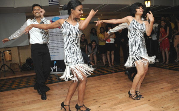 Sandip's Students Dancing at Sandip Soparkar Party