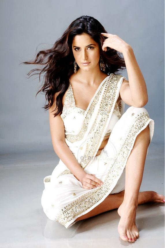 Katrina Kaif In White Saree Hot Look Photo Shoot