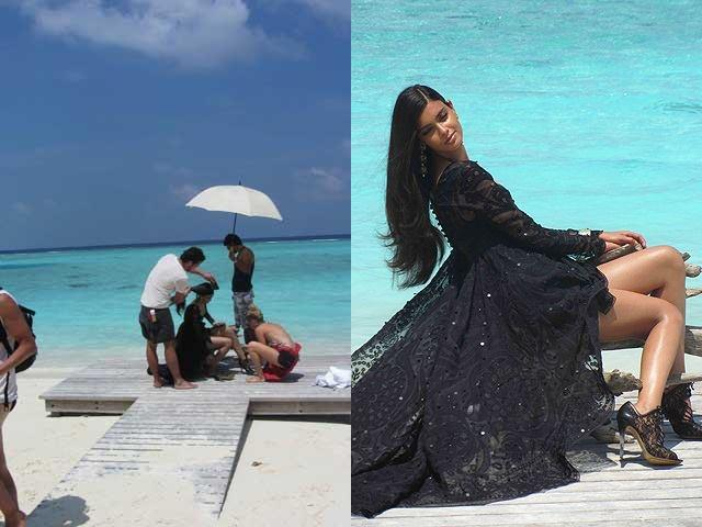 Diana Penty Hot Photo Shoot On The Beach For Vogue