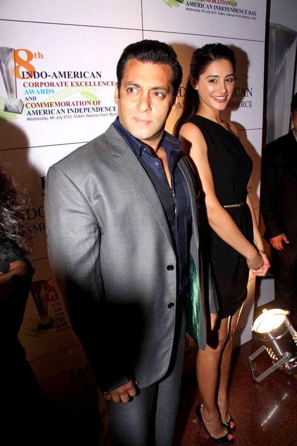 Salman and Nargis Spotted at 8th Indo-American Corporate Excellence Awards
