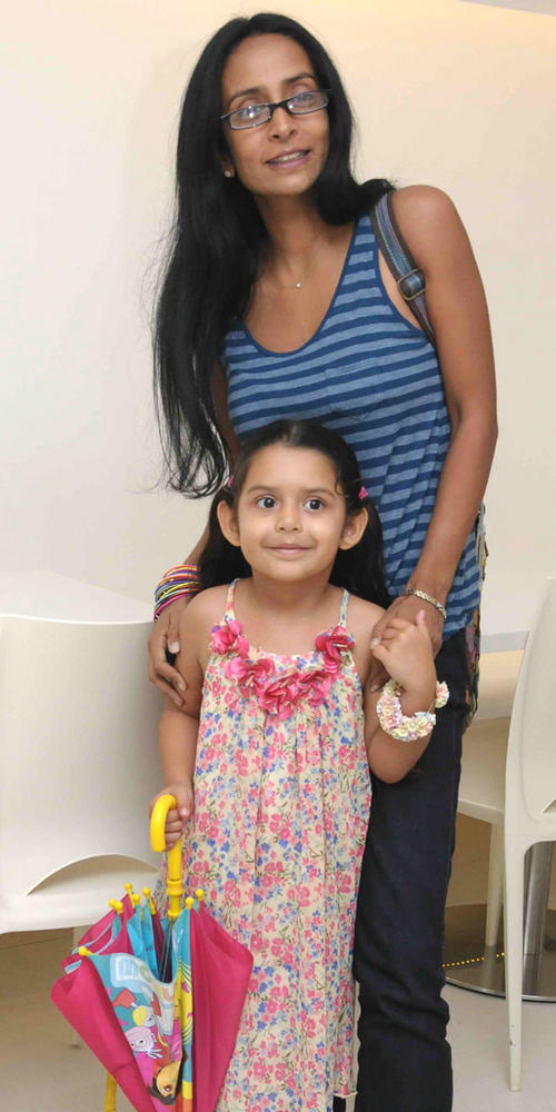Suchitra Pillai Poses with Her Daughter