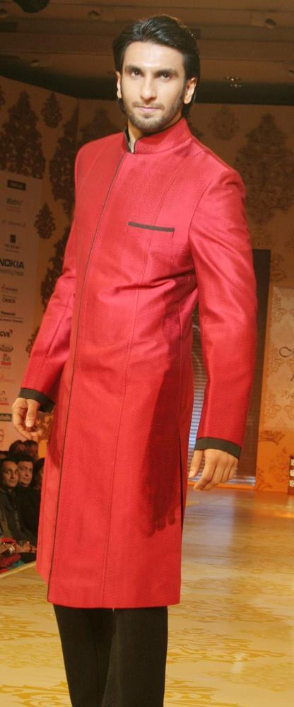 Ranveer Carries Off This Red Sherwani On Ramp