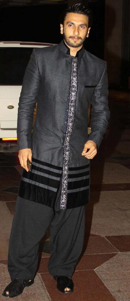 Ranveer Singh in Indian Traditional Wear at the Sangeet Ceremony of Esha Deol
