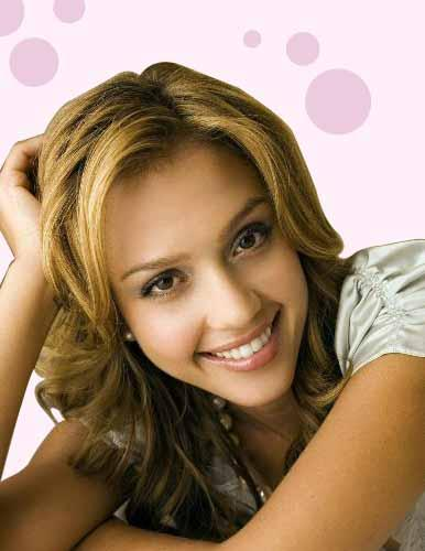 Jessica Alba Sweet Pose Photo Shoot