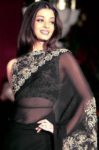 Aishwarya Rai Transparent Saree Gorgeous Pic