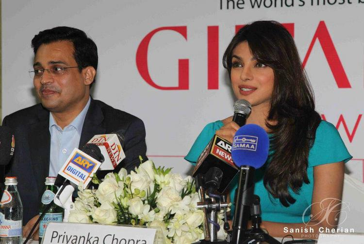 Priyanka Chopra at Gitanjali Jewellery Press Conference