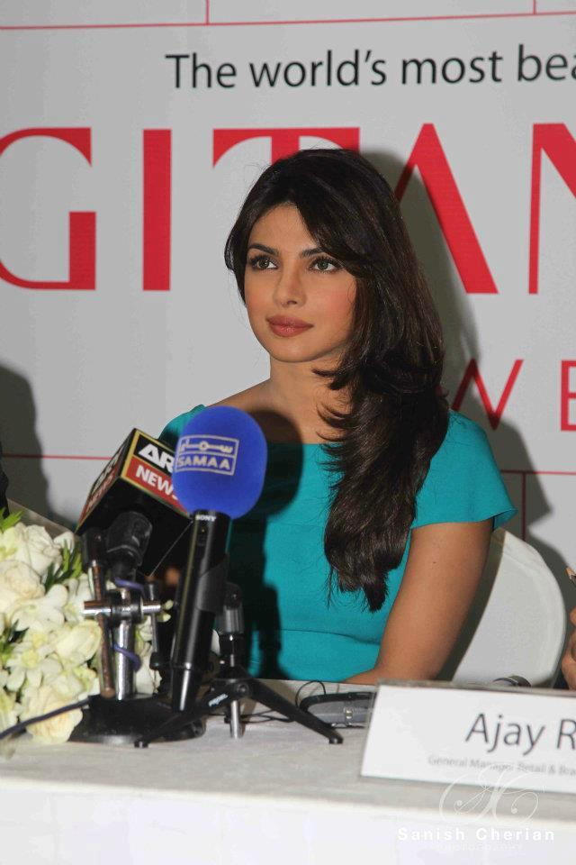 Priyanka Chopra Nice Look at  Press Conference For Gitanjali Jewellery